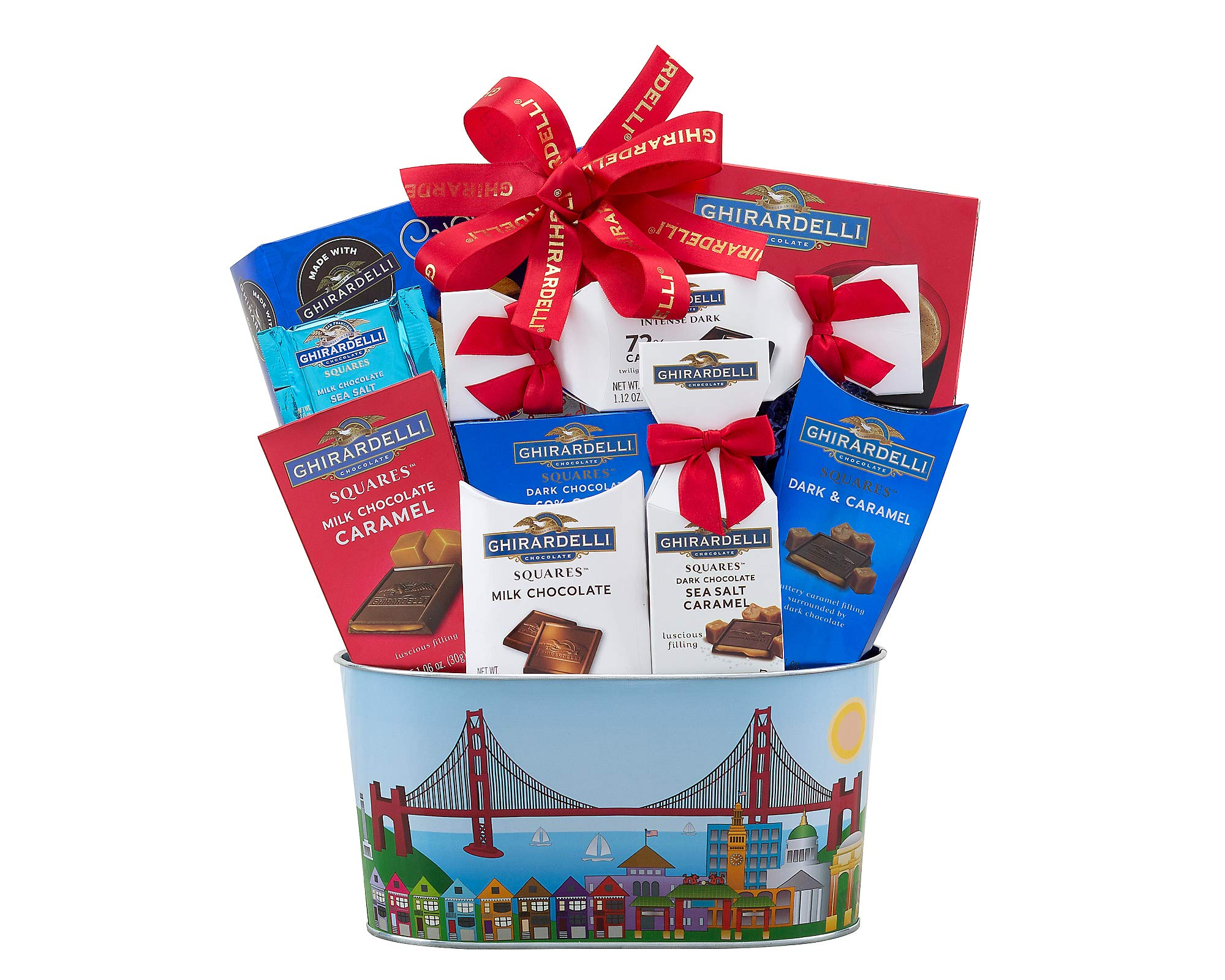 Wine Country Gift Baskets Christmas Ghirardelli Milk & Dark Chocolate Gift Basket, Holiday Gift Basket, Christmas Gift Basket, Family Gift Basket, Corporate Gift Basket, Birthday Gift by Wine Country Gift Baskets