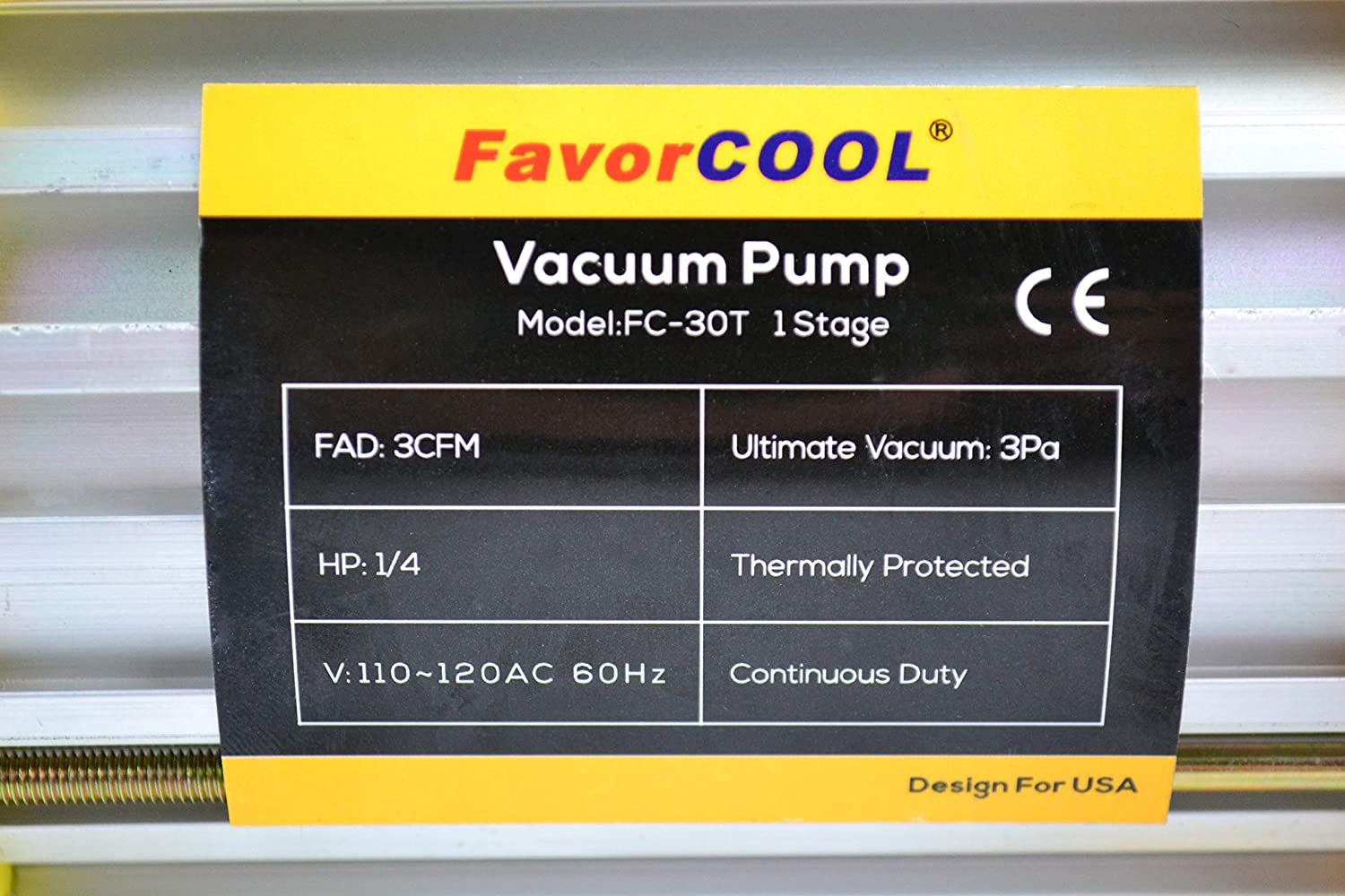 for HVAC Car Truck A//C AC Refrigerant Charge Kit R134A R22 Refrigerants FAVORCOOL 3.0CFM 1//4HP Air Vacuum Pump with Manifold Gauge Set for Freon Charging,fits R410A Quick Couplers /& Adapters