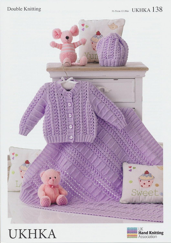 Double Knitting Pattern - Matching Baby Cardigan, Hat & Blanket ...
