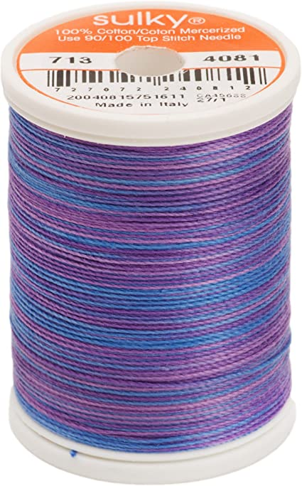 330-Yard Sulky 713-4081 12-Weight Cotton Blendable Thread Passion Fruit
