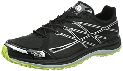 a8ec6807c67 THE NORTH FACE Men s Ultra Trail Ii Running Shoes TNF Black Dayglo Yellow  K2H