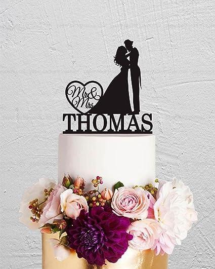 Amazon Com Wedding Cake Topper Joker Couple Custom Mr And Mrs Last