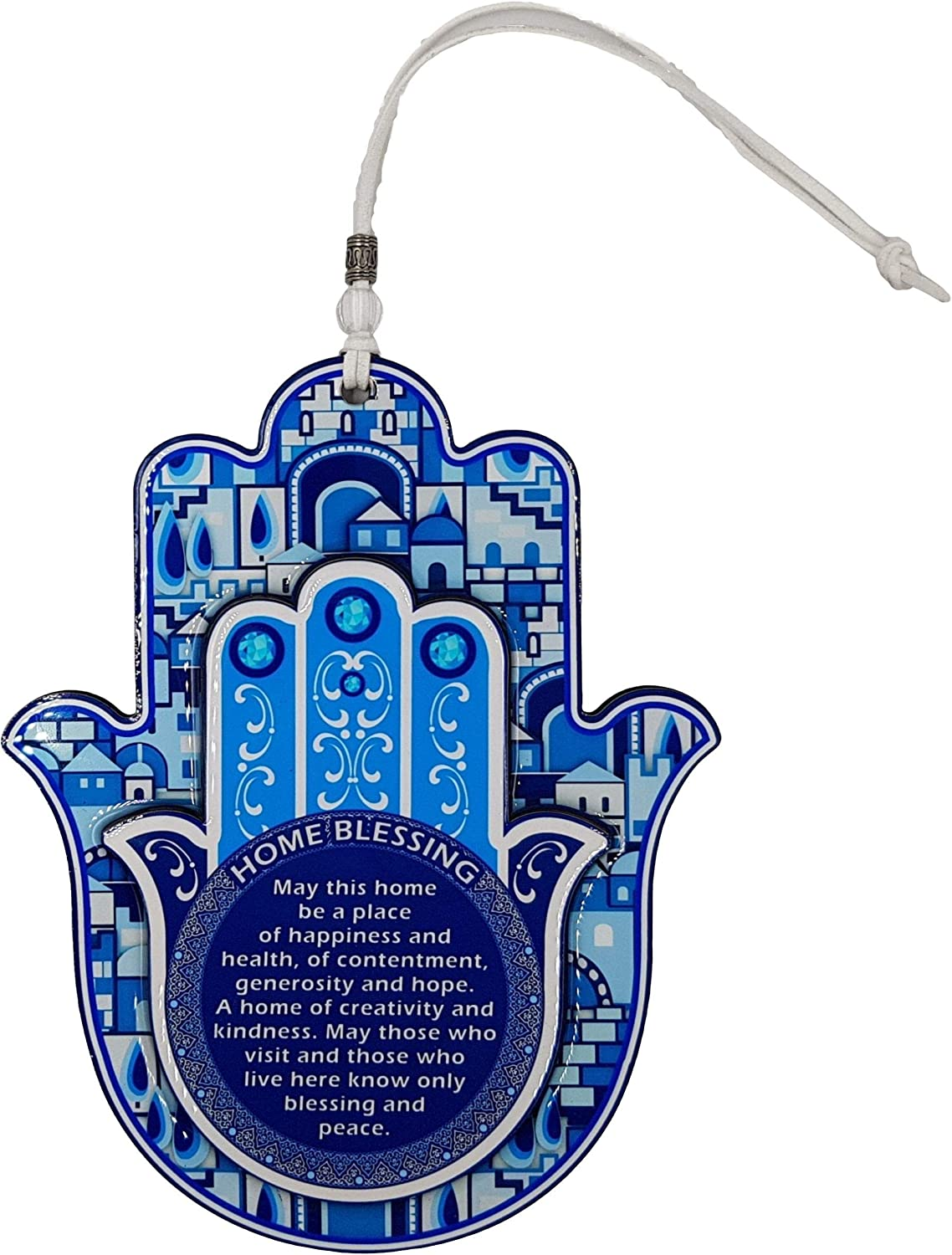 blue house favours ceramic blue house for the wall Blue house wall hanging glossy house wall hanging with pale blue glaze