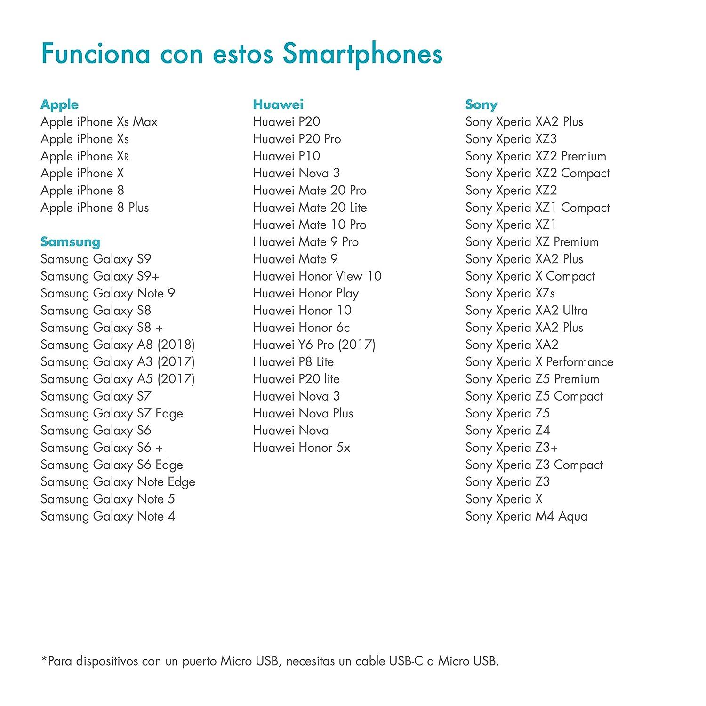 Compatible como Cargador para Huawei Xiaomi y m/ás Cargador r/ápido con Chip Inteligente LG PAZZiMO Cargador de Coche Negro Quick Charge 4+ con USB Tipo C iPhone Samsung