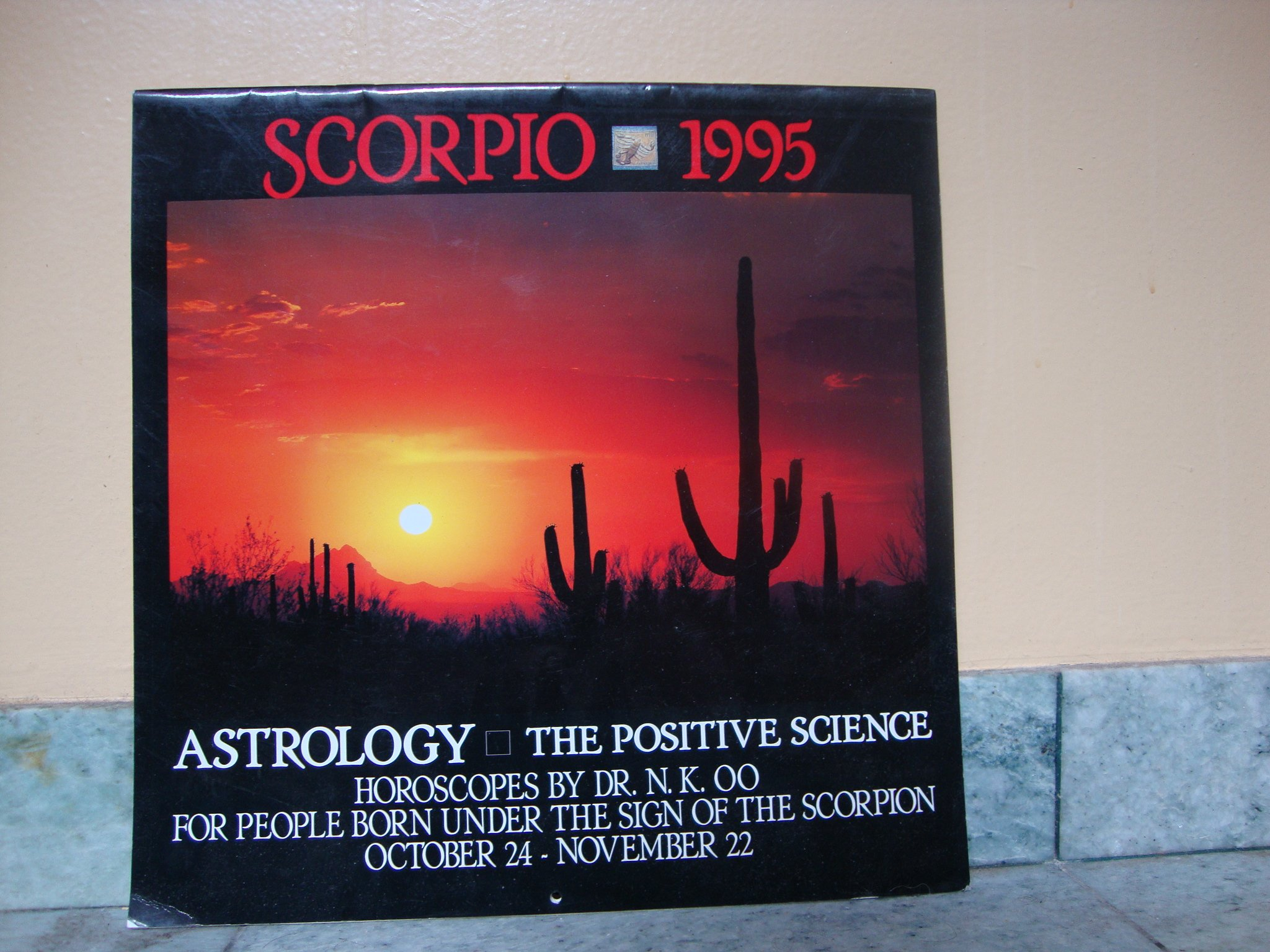 Scorpio 1995 Calendar Astrology The Positive Science