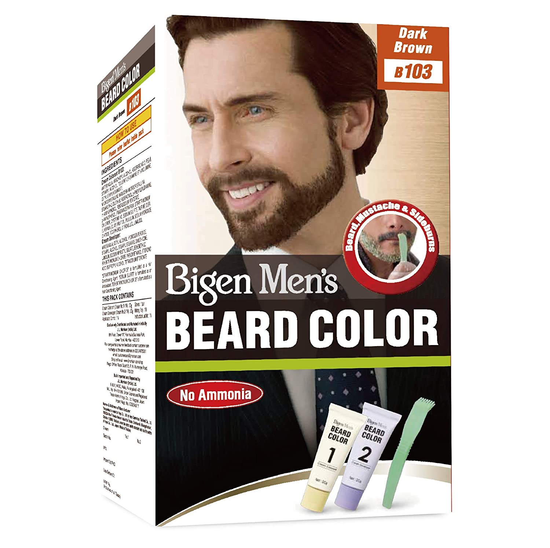 Bigen Mens Beard Colour Dark Brown 103