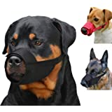CollarDirect Adjustable Dog Muzzle Small Medium Large Dogs Set 2PCS Soft Breathable Nylon Mask Safety Dog Mouth Cover…
