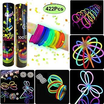 200 Pulseras luminosas glow pack multicolor: Amazon.es: Iluminación