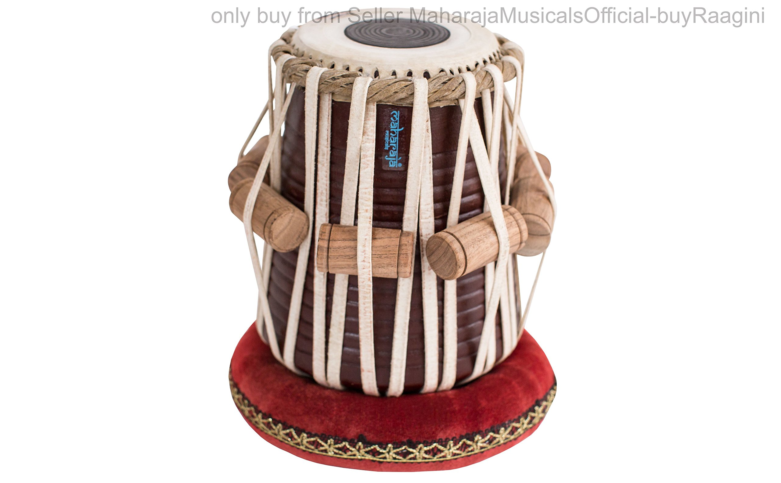 MAHARAJA Student Tabla Drum Set, Basic Tabla Set, Steel Bayan, Dayan with Book, Hammer, Cushions & Cover - Perfect Tablas for Students and Beginners on Budget (PDI-IB) Tabla Drums, Indian Hand Drums by Maharaja Musicals (Image #5)