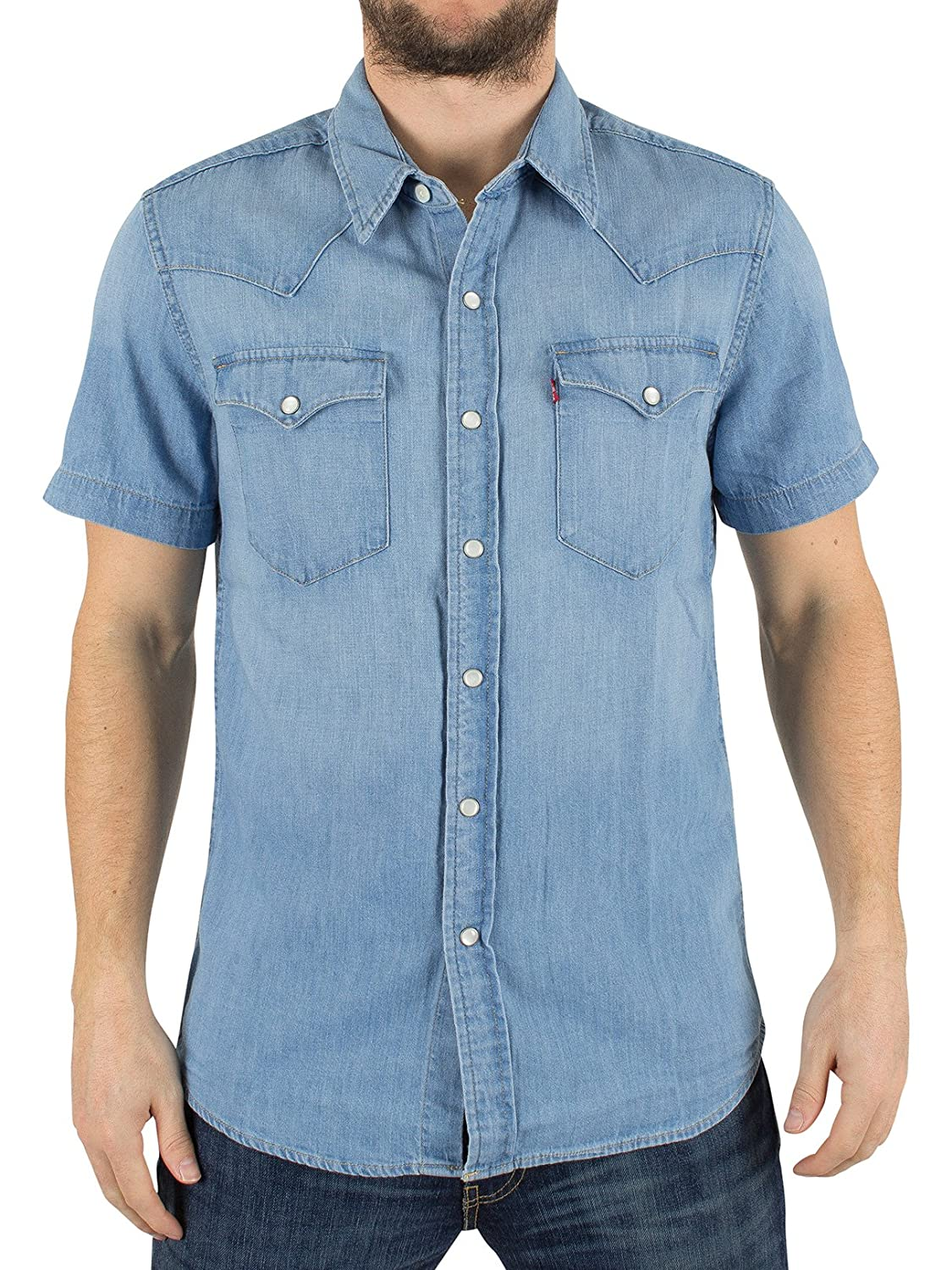 Levi's Men's Shortsleeved Classic Western Core Light Shirt, Blue