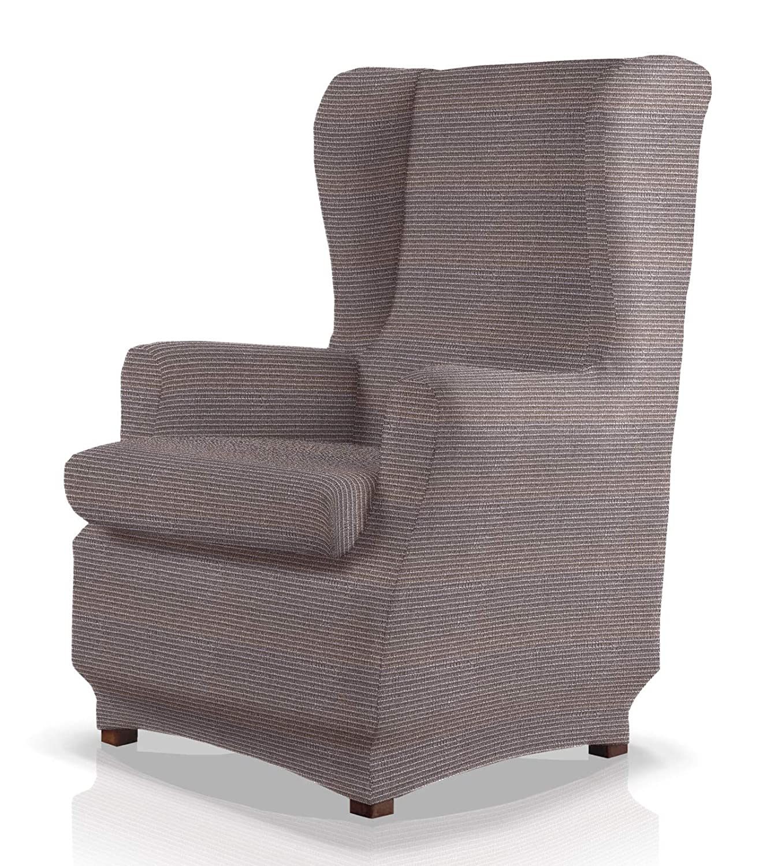 JM Textil Funda de sillón orejero elástica Simba Tamaño 1 Plaza (Estándar), Color 04