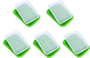 Dailydanny Seed Sprouter Tray, BPA Free Nursery Tray for Seedling Planting Great for for Garden Home Office (5)