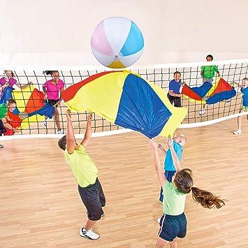 Sonyabecca Juego de 4 Piezas de Voleibol de paracaídas de 4 pies ...