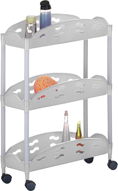 axentia 282770 Desserte /à roulettes Plastique Blanc 67 x 50 x 20 cm