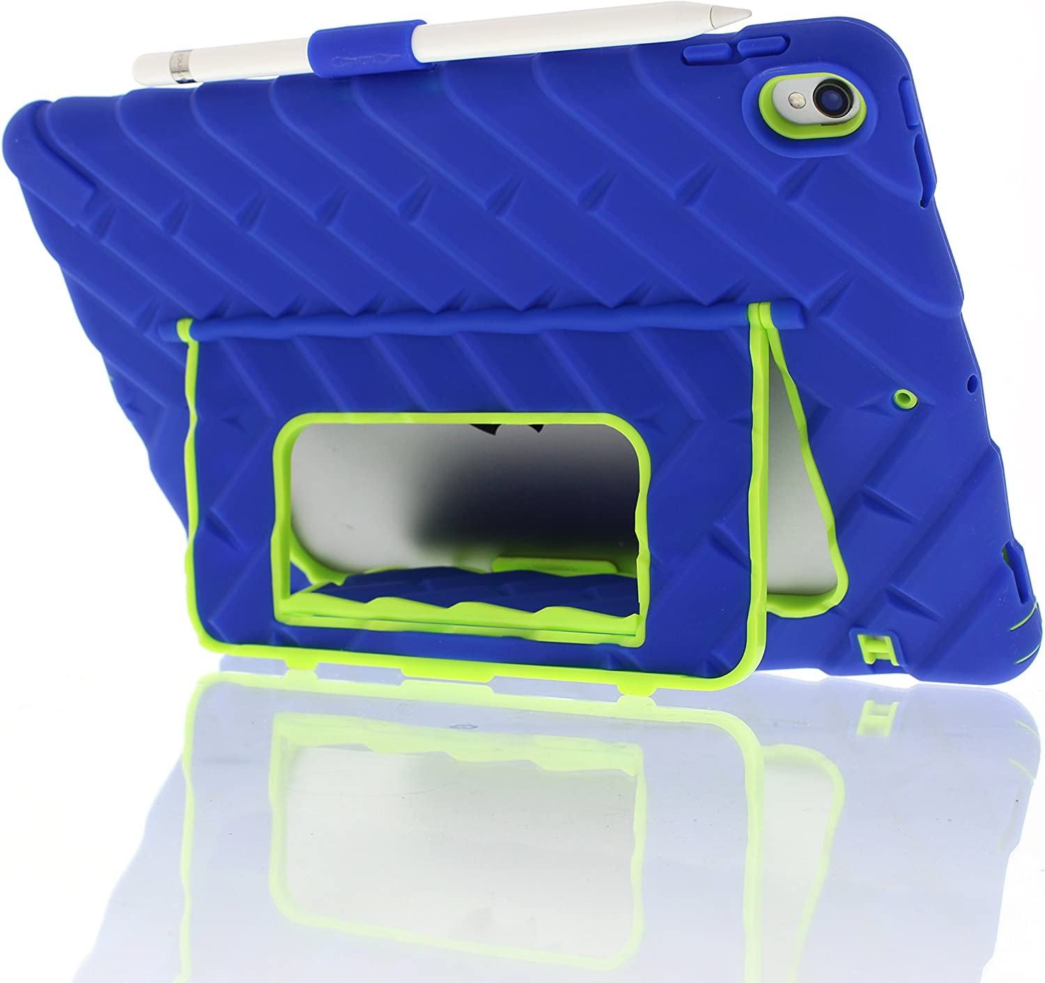 Gumdrop Hideaway Case for The iPad Pro 10.5 Tablet for Kids - Blue/Lime, Shock Absorbing, Extreme Drop Protection