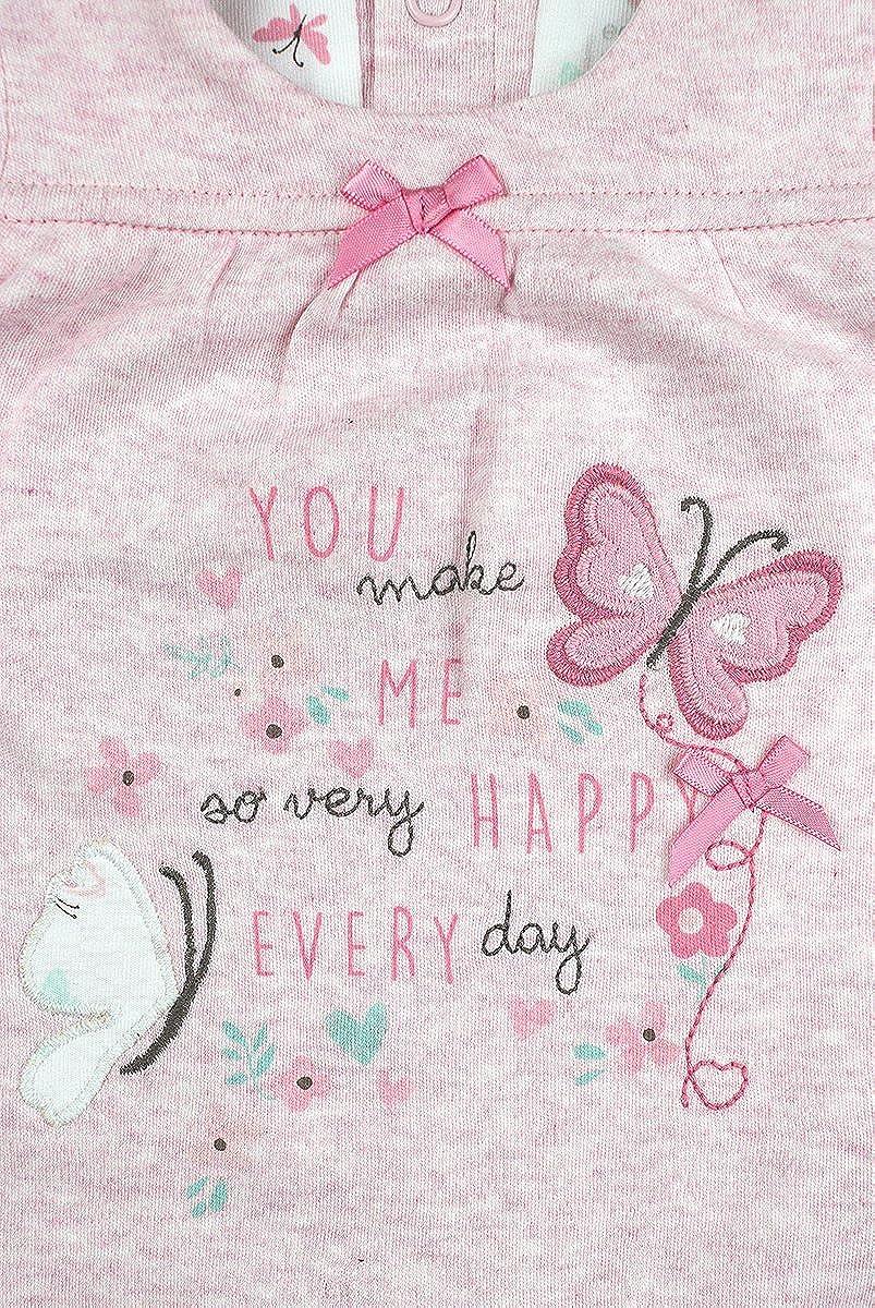 Mädchen Baby Pack 2 Blumenmuster Maus T-Shirt Tops Winzig Prem bis 12 Monate