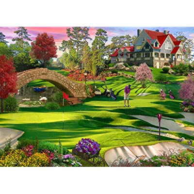 Vermont Christmas Company Golfer's Paradise Jigsaw Puzzle 1000 Piece: Toys & Games