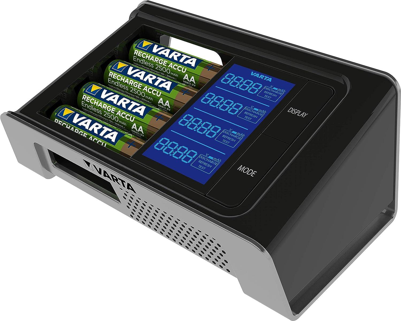AAA Akkus Micro Mignon Varta LCD Ultra-Fast Rundzellen-Ladegerät NiMH inkl