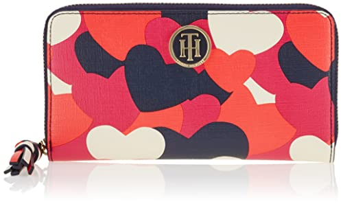 Tommy Hilfiger - Love Large Z/a Wallet Hearts, Carteras Mujer, Rot (