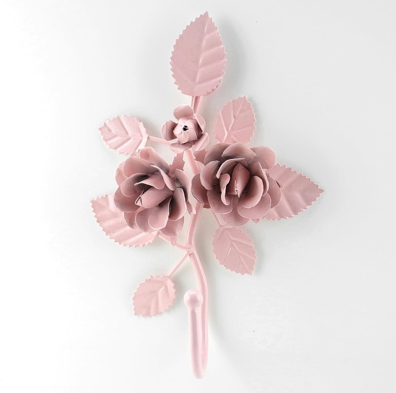 amazoncom new shabby vintage metal rose style hanger h65 hook home u0026 kitchen