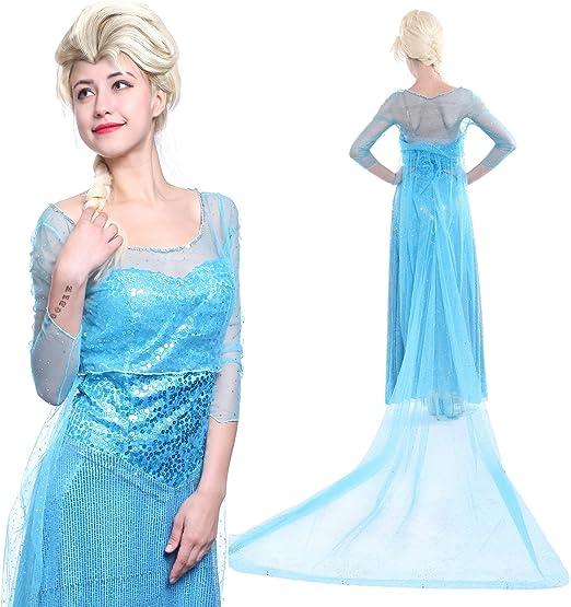 Maboobie - Disfraz Frozen Elsa Reina del Hielo Vestido de Lujo ...