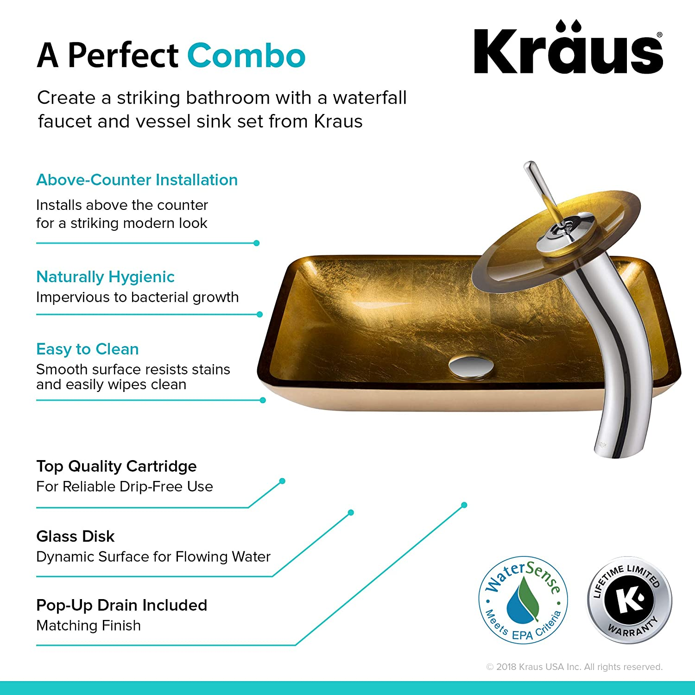 montaje superior versus sumideros Kraus C Gvr 204 Re 10sn Irruption Azul Rectangular Glass
