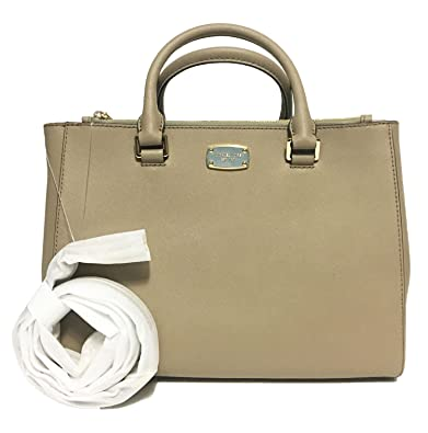 1251a428b251 MICHAEL Michael Kors Medium Kellen Leather Satchel Bag (Dark Taupe ...