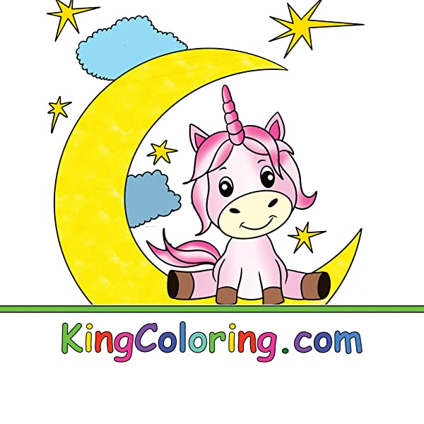 THE BIG UNICORN COLORING BOOK: Jumbo Unicorn Coloring Book ...
