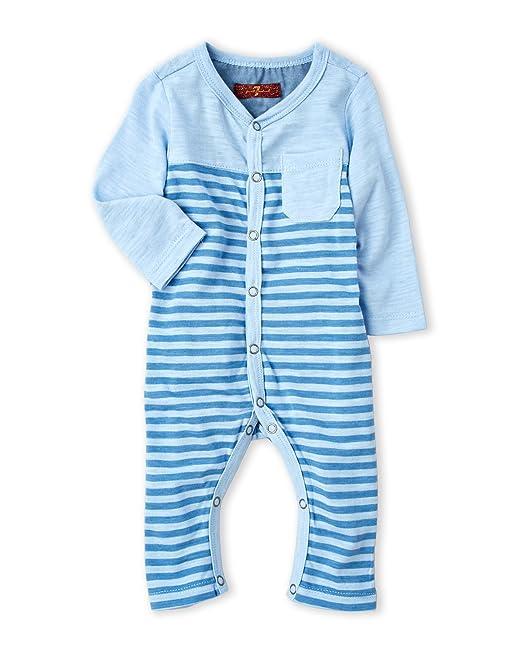 ea43a025d 7 For All Mankind Newborn Infant Boys Stripe Patch Pocket Romper ...