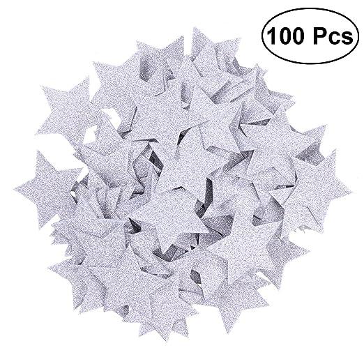 ROSENICE Confeti Estrella Mesa decoración DIY Confeti ...