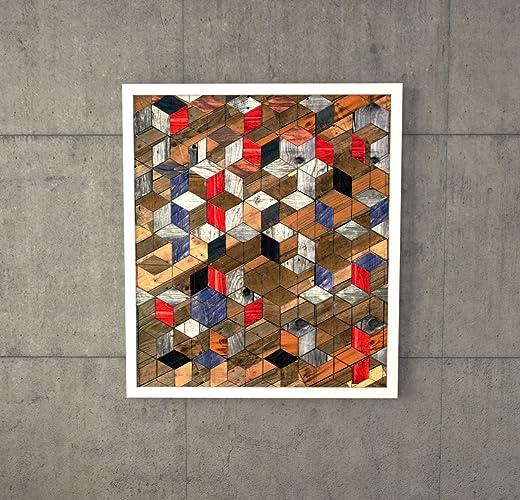 Reclaimed Wood Art A 300 Holz Wand Kunst Zurückgefordert Holz