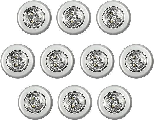 3 x piles lumières led inclus sous armoire lampe nuit coller sur de nouveaux de chevet