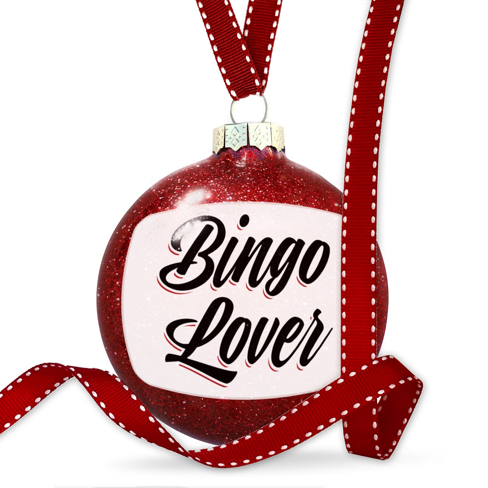 Christmas Decoration Vintage Lettering Bingo Lover Ornament by NEONBLOND