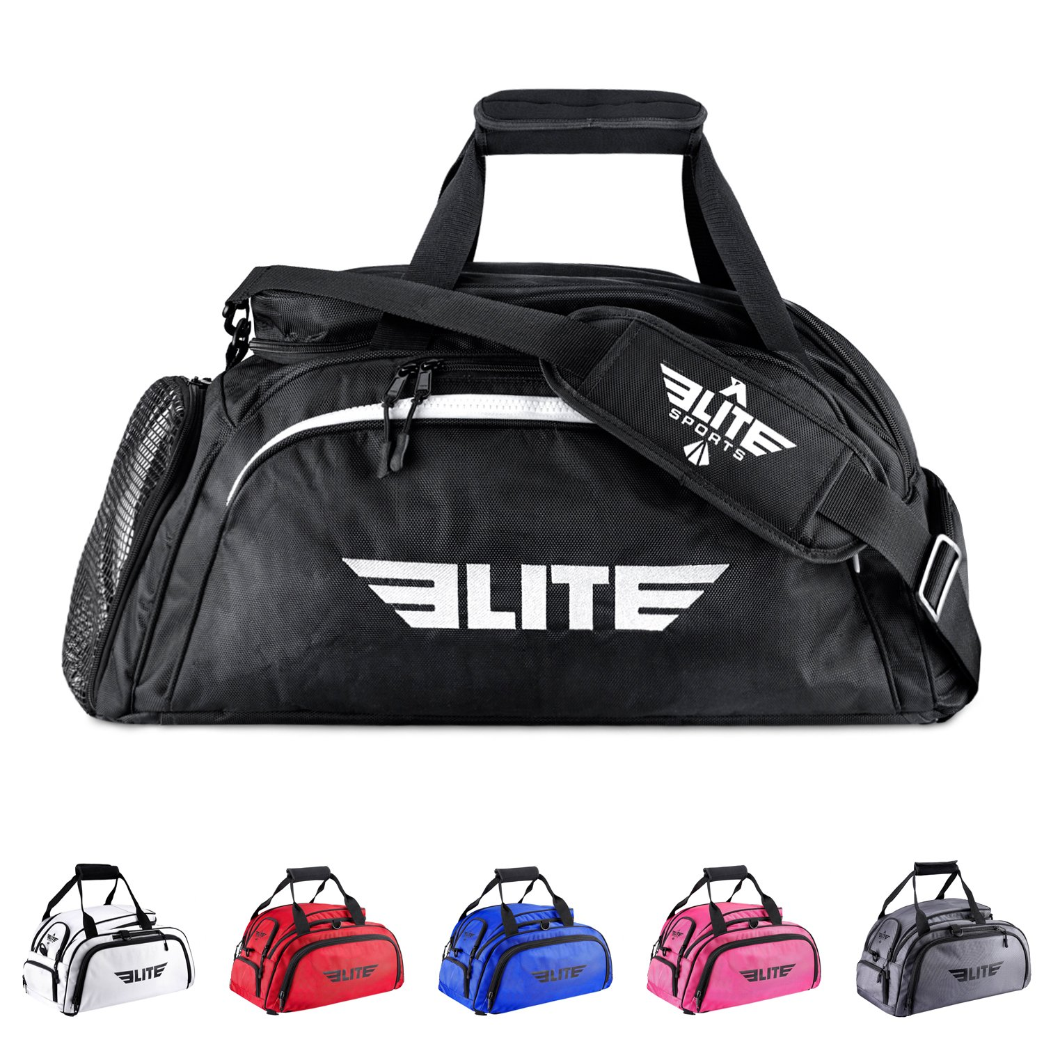 Elite Sports Warrior Series Boxing MMA BJJ Gear Gym Duffel Backpack Bag (Large)