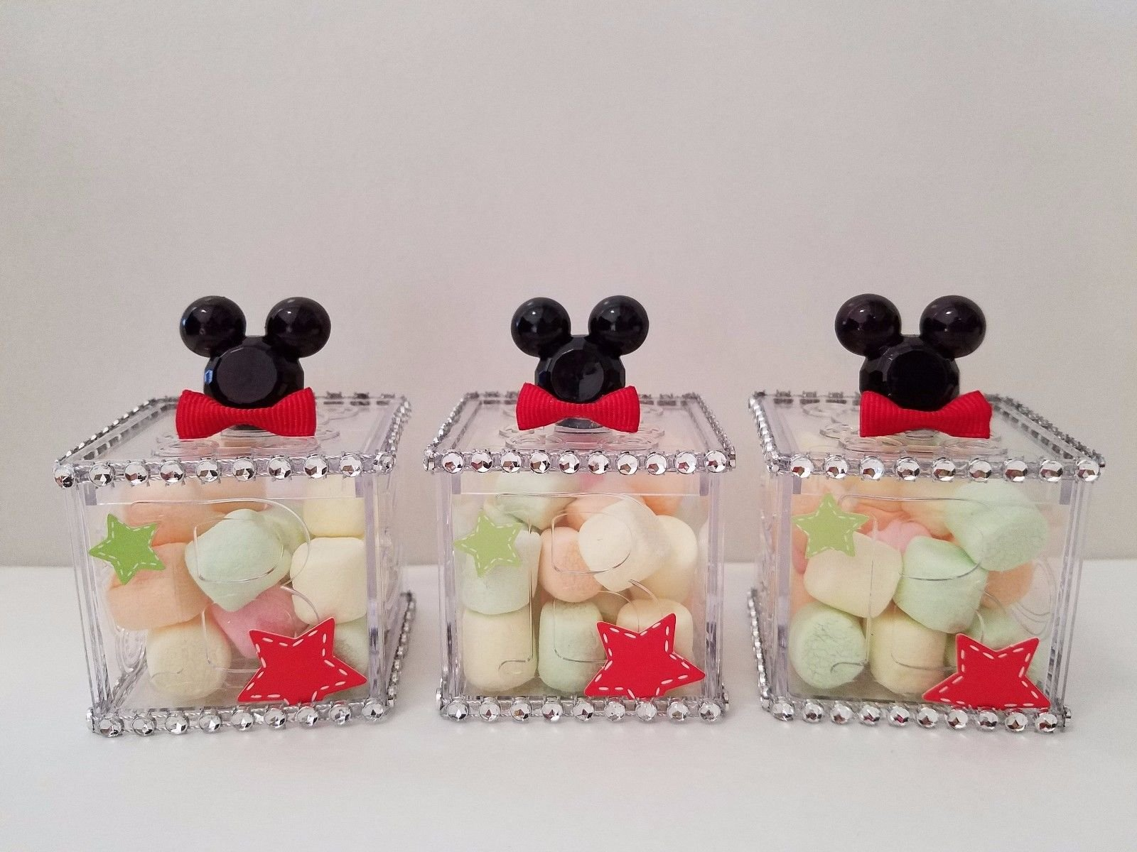 12 Mickey Mouse Fillable Blocks Baby Shower Favors Prizes Game Boy Decorations by Product789