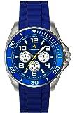 Firebird - FB108B - Pilot - Montre Homme - Quartz Analogique - Cadran Bleu - Bracelet Caoutchouc Bleu