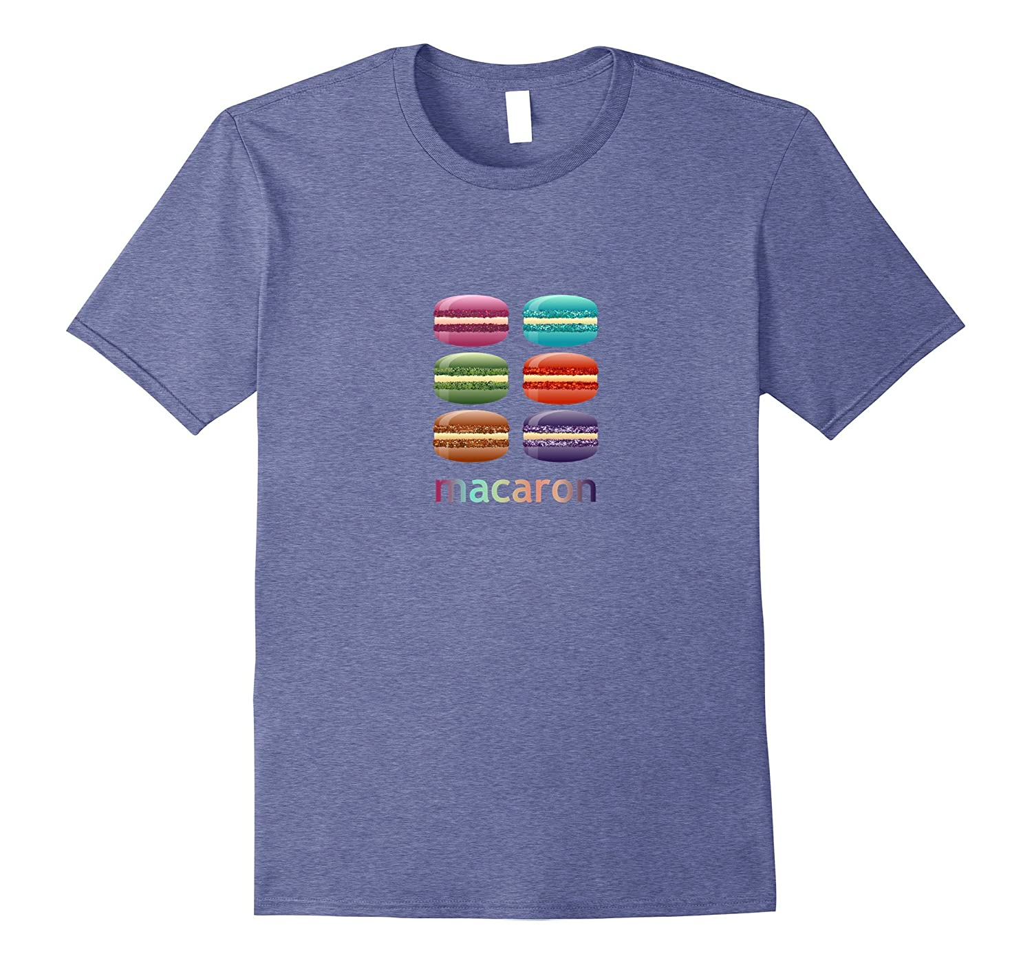 Colorful Yummy French Macarons Dessert Treat T-shirt-mt