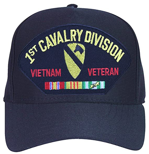 1st Cavalry Division Vietnam Veteran with Ribbons Baseball Cap ... 782e5d562e4