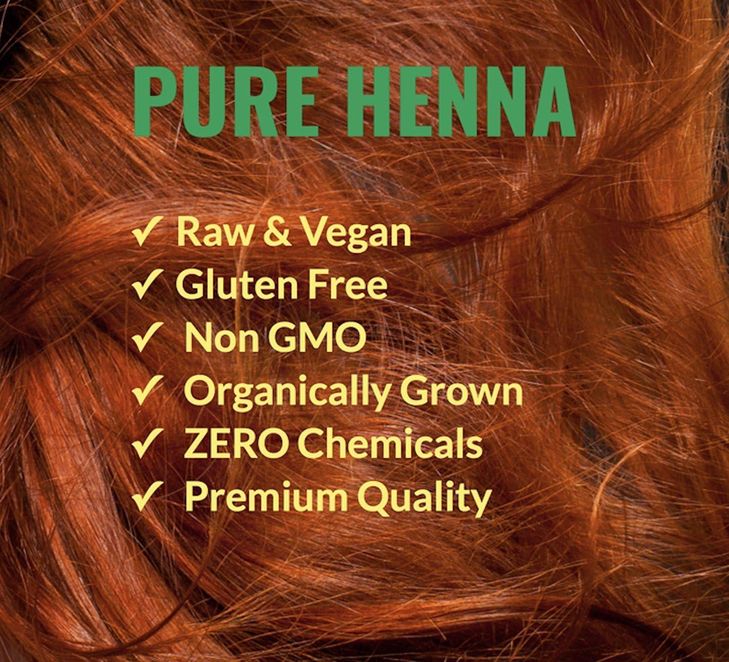 Polvo de henna 100% puro para tinte para el cabello - Color de cabello de henna roja, La mejor henna roja para el cabello - The Henna Guys (400 g)