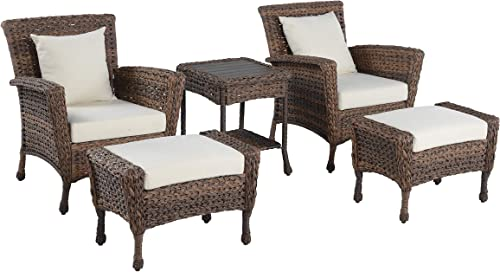 W Unlimited Rustic Collection Outdoor Garden Patio 5-PC Bistro Furniture Set