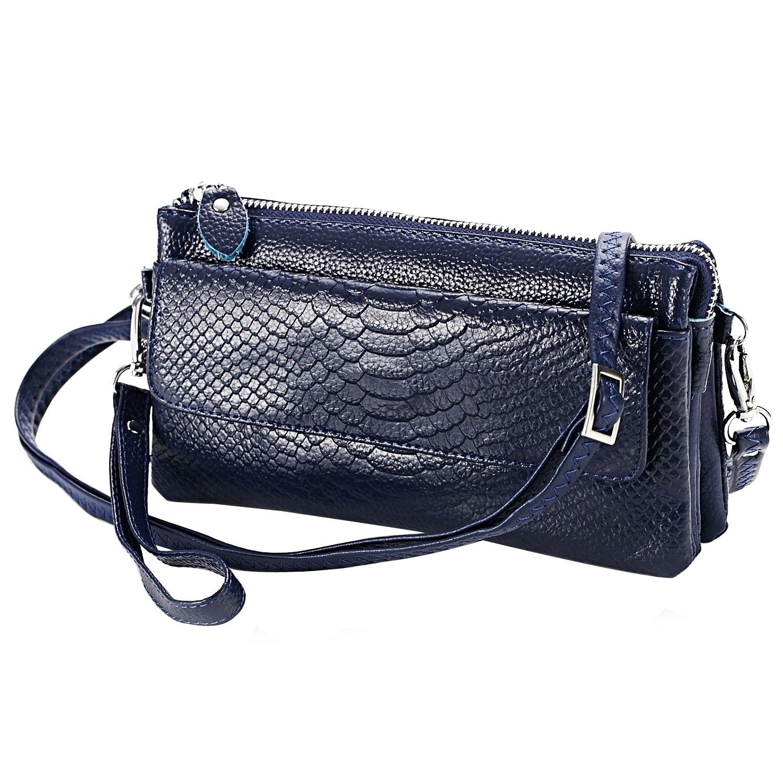Women's Leather Purse Shoulder Bag Crossbody Bag Wristlet Wallet Clutch