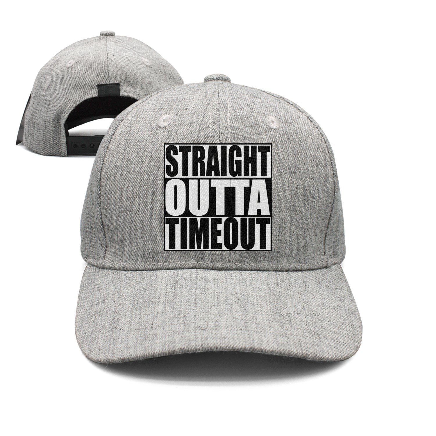 Waldeal Boys& Girls Straight Outta Timeout Two-Toned Baseball Cap Hats Black