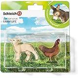 Schleich - 21033 - Figurine Animal - Agneau Et Poule - Pack De 2
