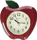 """Westclox 3D Apple Wall Clock, 10"""""""