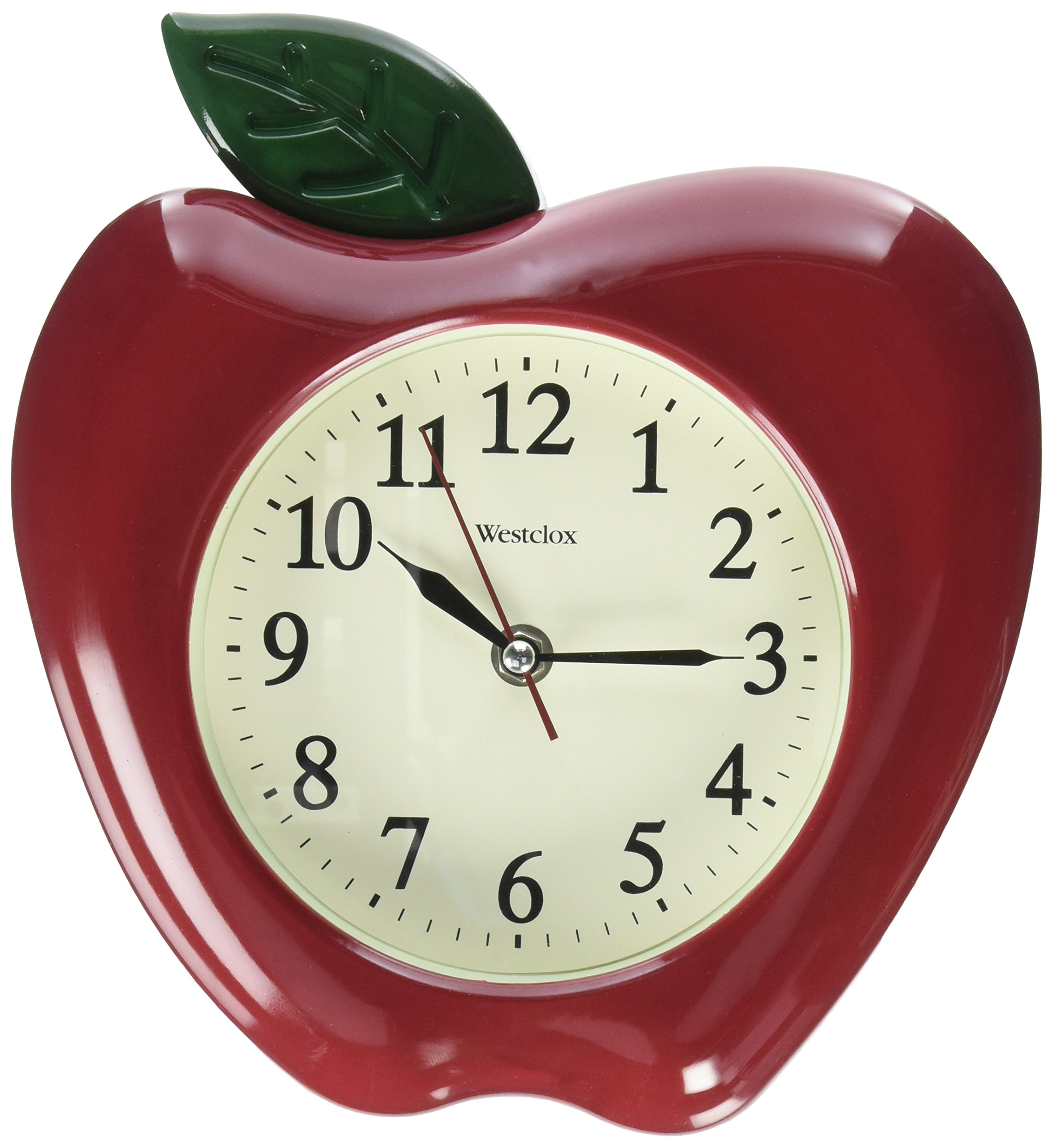 Battery Operated 3D Wall Clock Apple Design Analog Home Kitchen