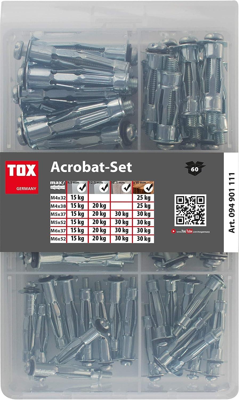 60/piezas 1/pieza 094901111 TOX Acrobat/ /Taco Surtido de metal set