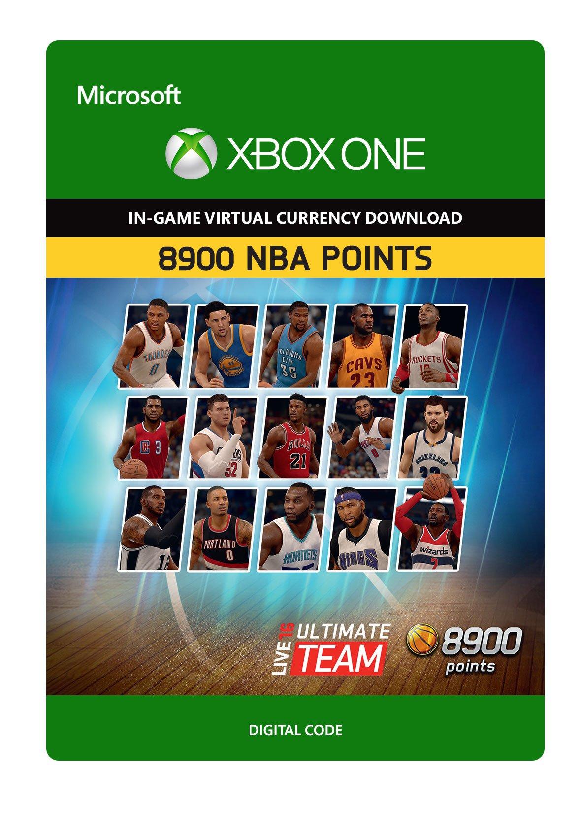 NBA Live 16 LUT 8,900 NBA Points Pack - Xbox One Digital Code