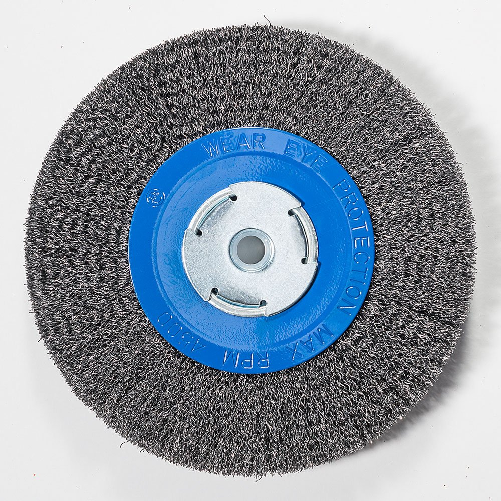- Tools 1//2 5//8 Mercer Tool Corp Mercer Industries 183010 Crimped Wire Wheel 6 x 3//4 x 2 For Bench//Pedestal Grinders 6 x 3//4 x 2 1//2, 5//8