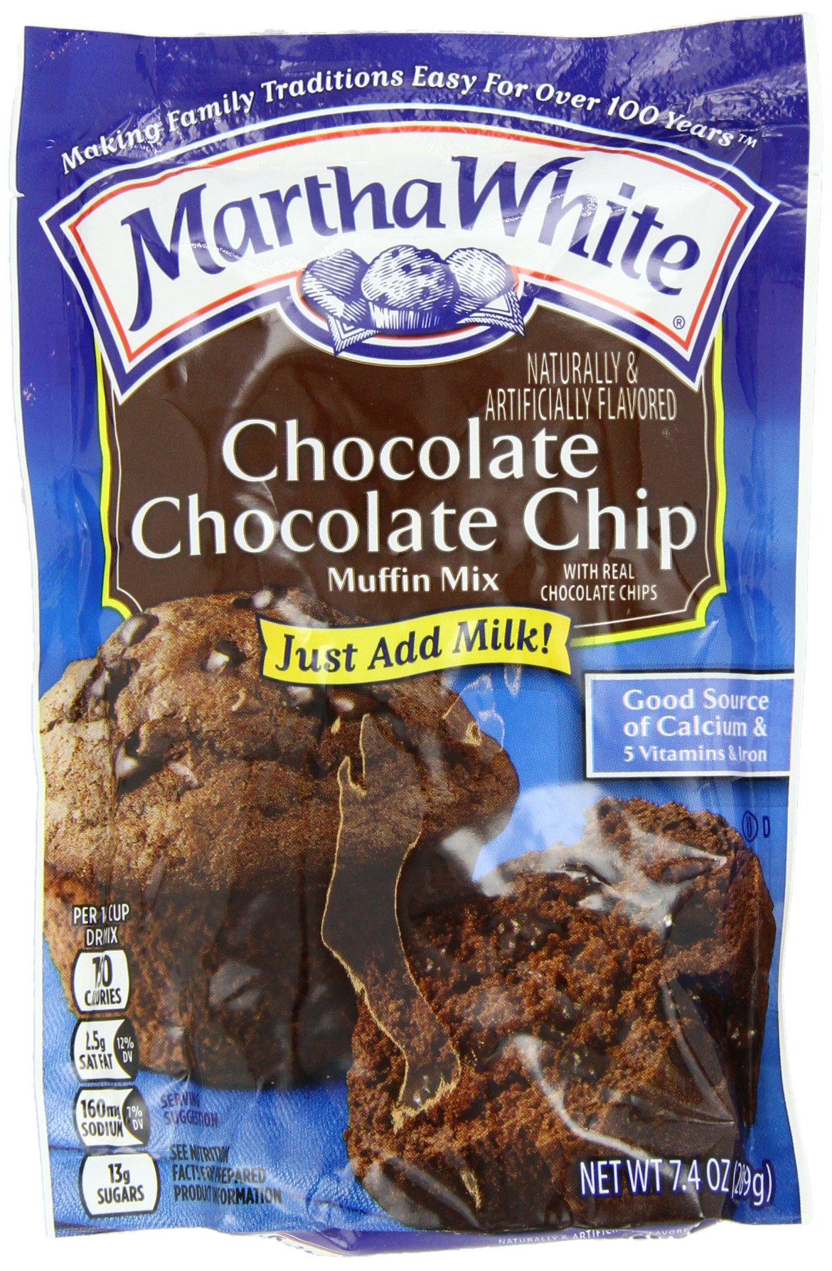 Smucker's Martha Chip Muffin Mix, White Chocolate, 7.4 Ounce (Pack of 12)