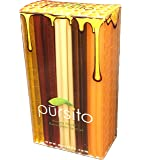 Favorite Flavors Honey Sticks Gift Box Variety Pack 100 Count (20 ea. Flavor Lemon, Peach, Pina Colada, Raspberry…
